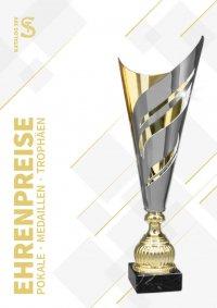 schwarz//rot//gold Sport-Pokal mit Ihrer Wunschgravur//Emblem 57556